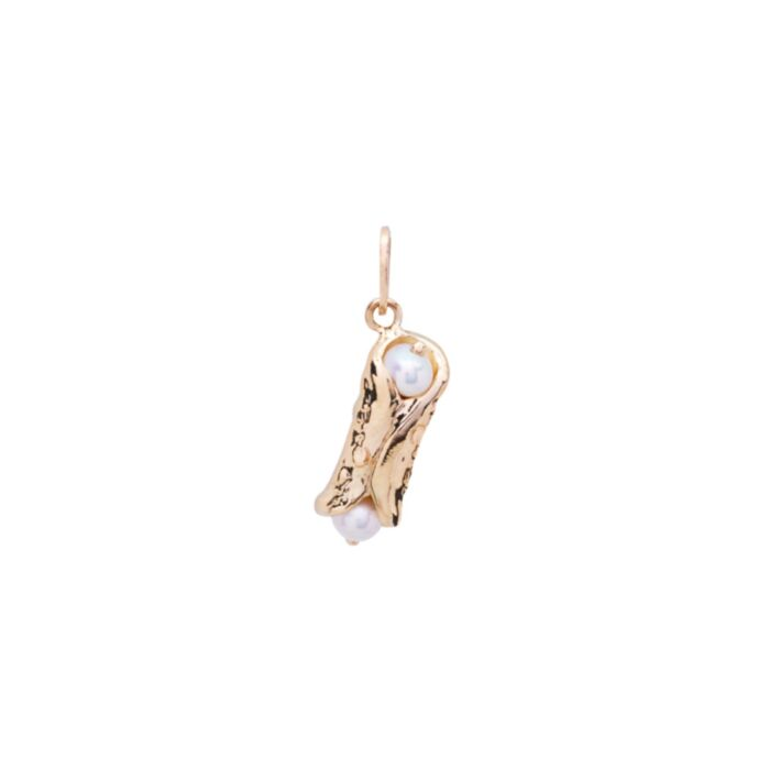 Holy Cannoli Charm, Yellow Gold