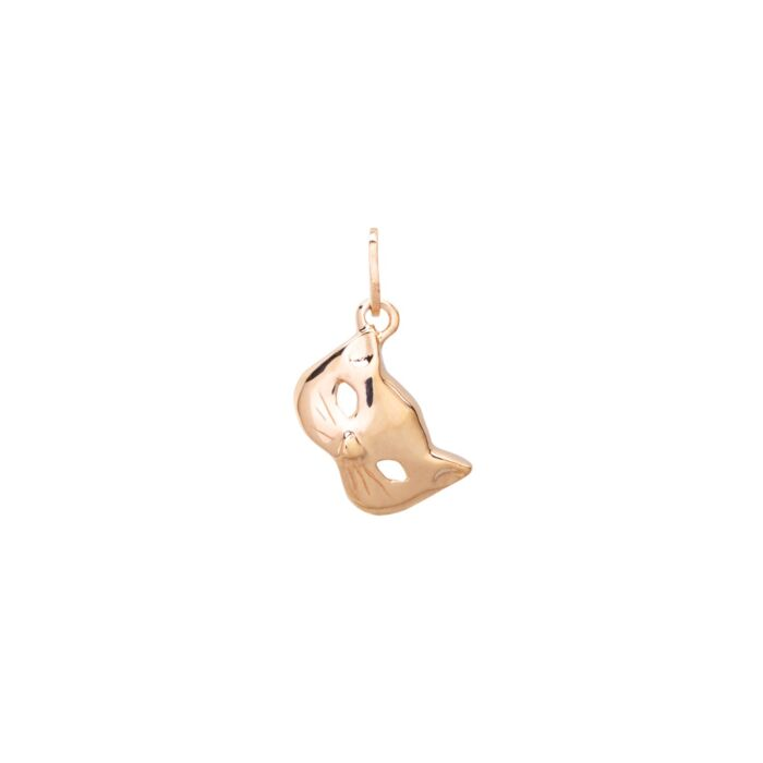 Kitten Mask Charm, Yellow Gold