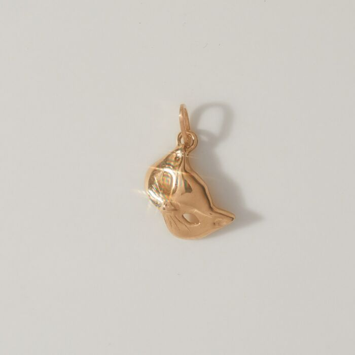 Kitten Mask Charm, Yellow Gold image