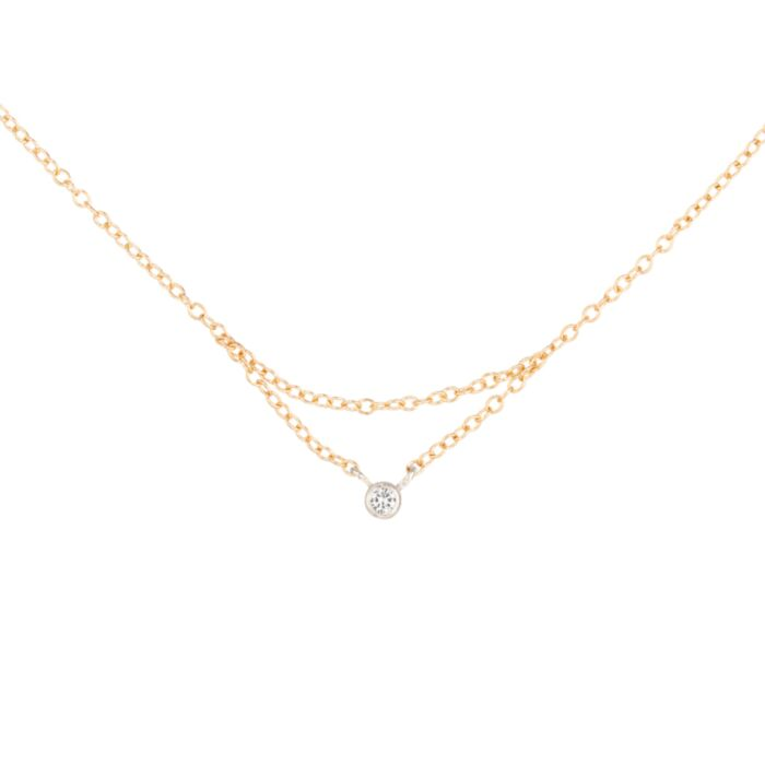 Chained to My Heart Necklace, Yellow Gold