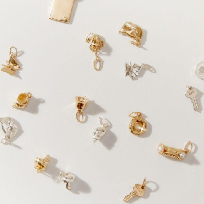 Tiniest Key Charm, Yellow Gold image