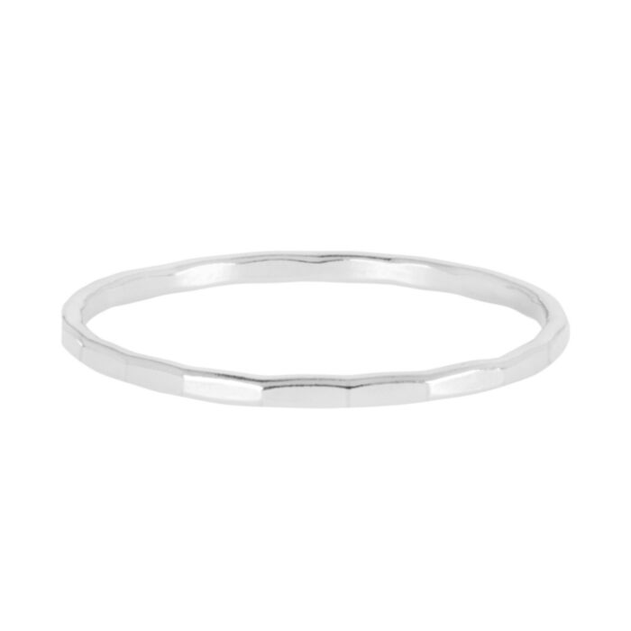 Classic Hammered Ring, Silver