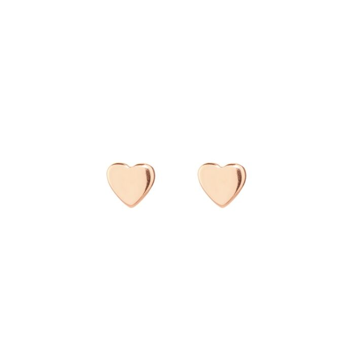 Classic Heart Stud, rose gold (single)