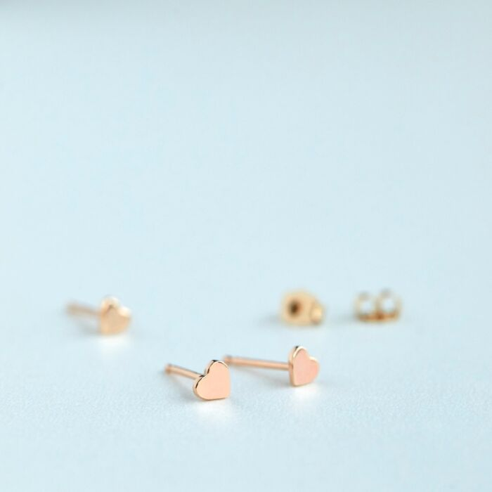 Classic Heart Stud, rose gold (single) image