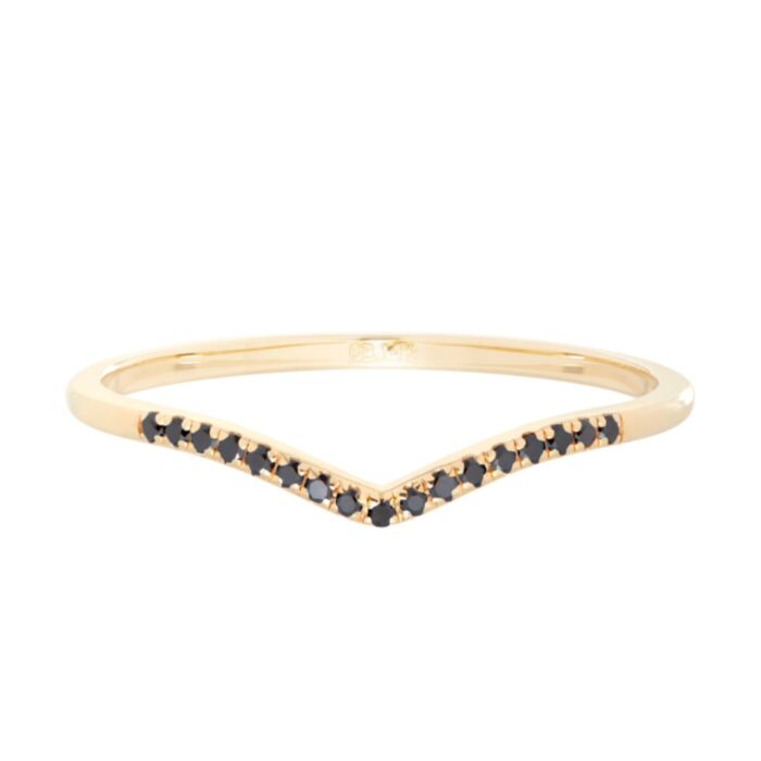 Fairy Light, curved, demi-pavé, black diamond