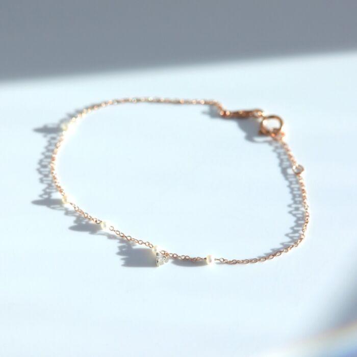 Dewdrop Bracelet, rose gold image