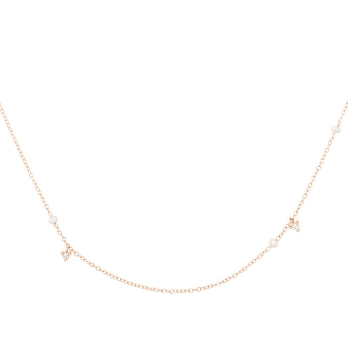 Dewdrop Collar, rose gold