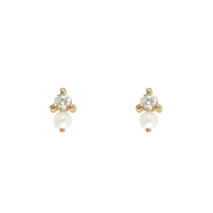 Dewdrop Stud, Yellow Gold (single)