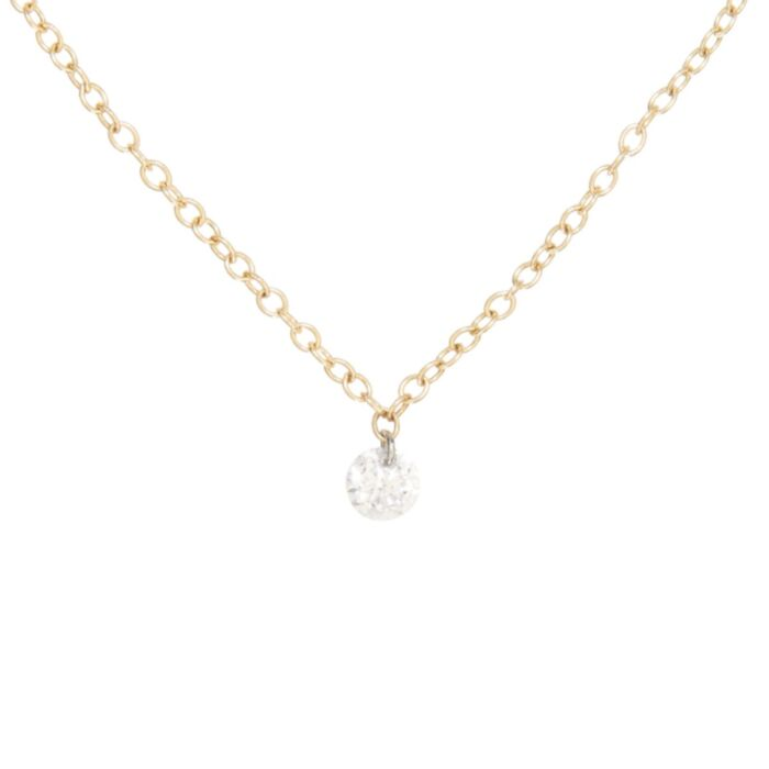 Diamond Pinprick Necklace, yellow gold