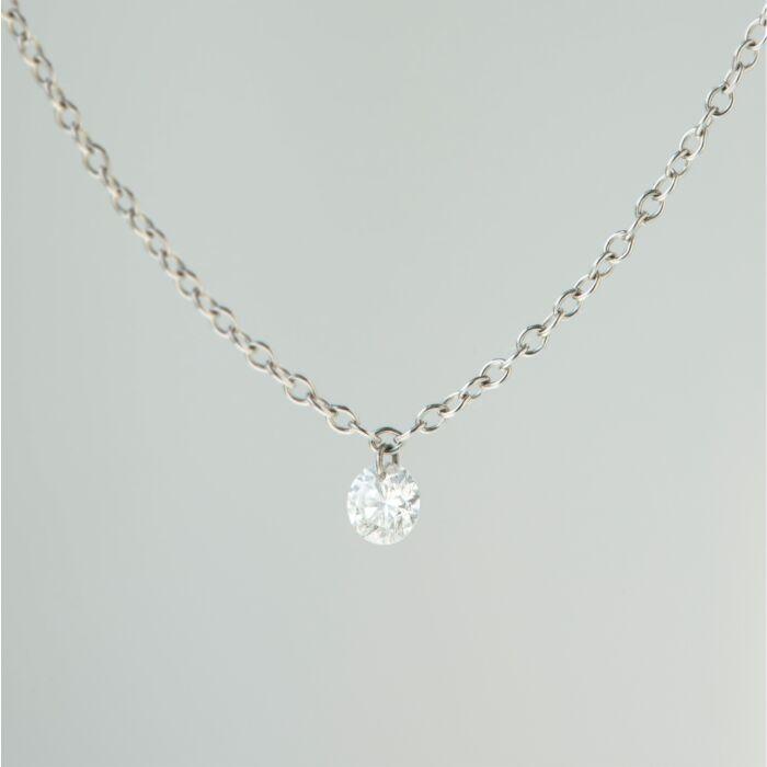 Diamond Pinprick Necklace, white gold