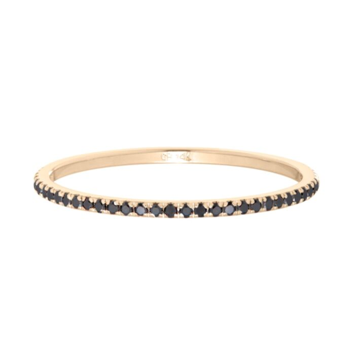 Fairy Light Eternity Band, Black Diamonds