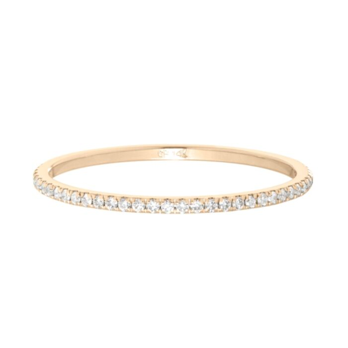 Fairy Light Eternity Band, White Diamonds