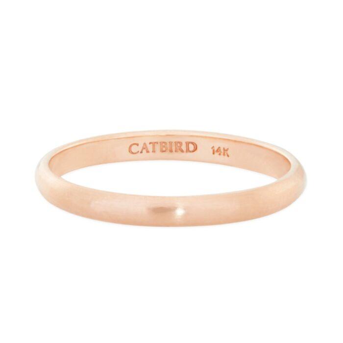 Catbird Classic Wedding Bands, Half Round Band, 2mm image