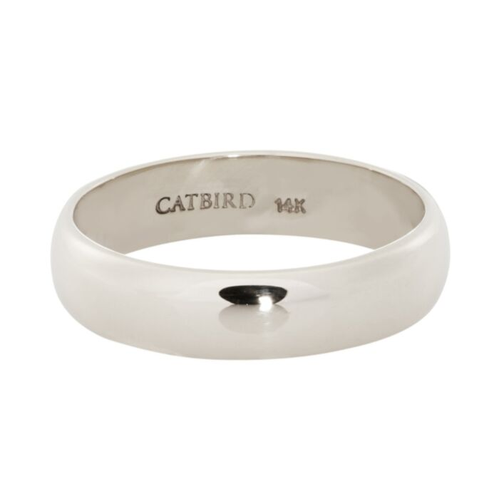 Catbird Classic Wedding Bands, Half Round Band, 4mm image