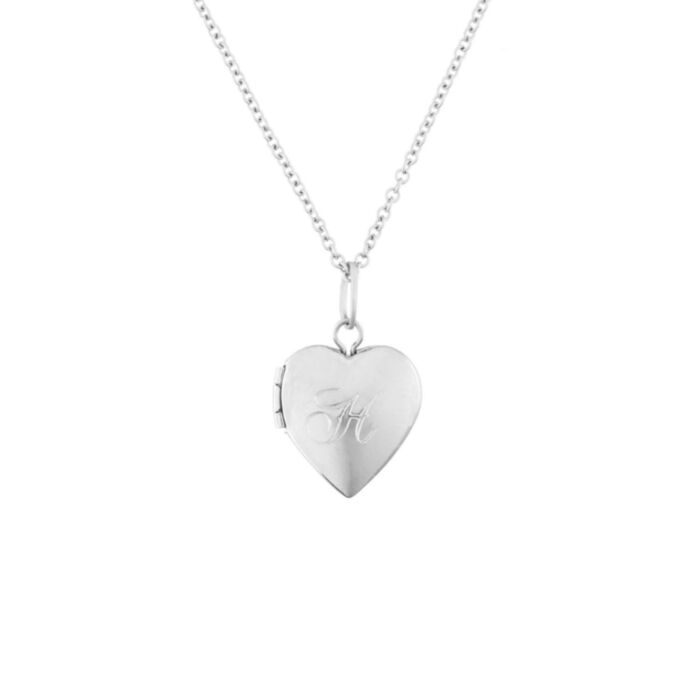 Dollhouse Heart Locket, Silver