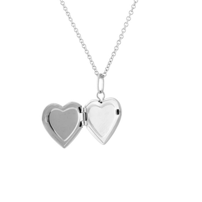 Dollhouse Heart Locket, Silver image