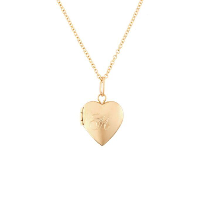 Dollhouse Heart Locket, Gold image