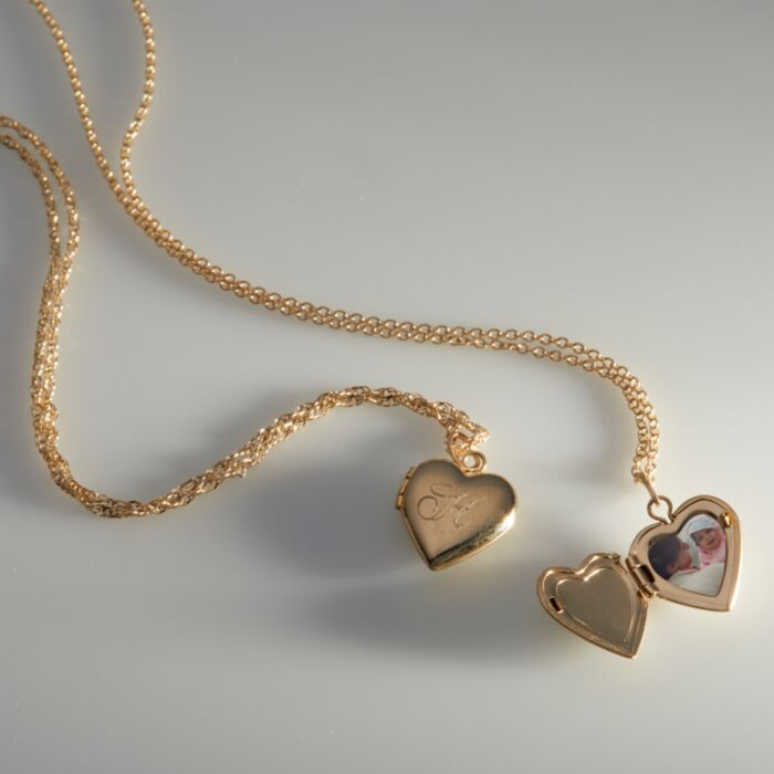 Dollhouse Heart Locket, Gold