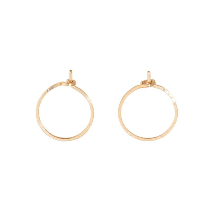 Hoop Dream Earring, yellow gold (single)