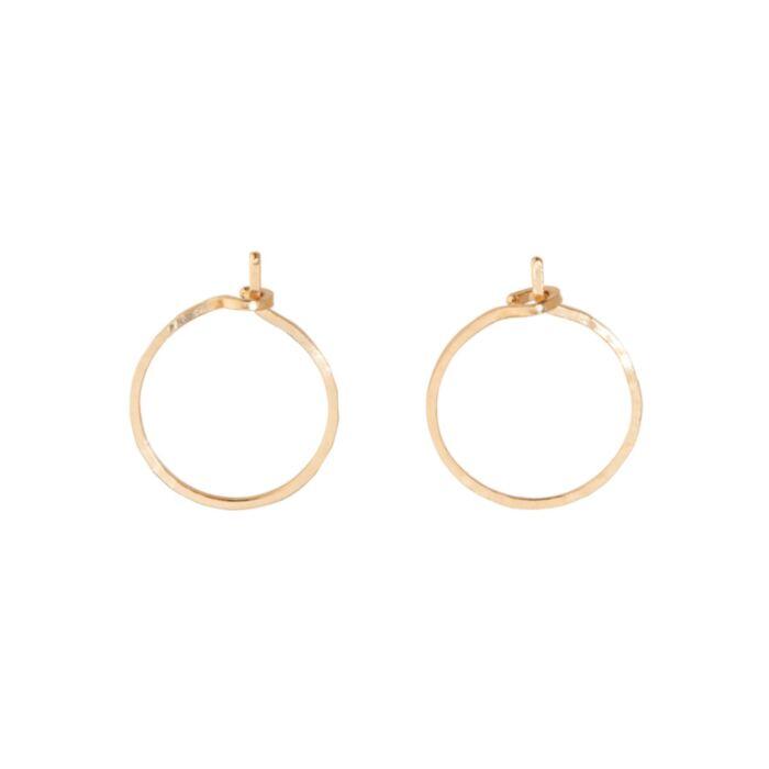 Hoop Dream Earring, yellow gold (single)