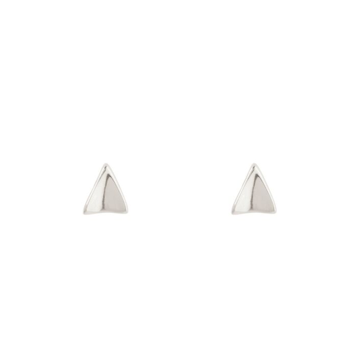 Kitten Ear Stud, silver (single)