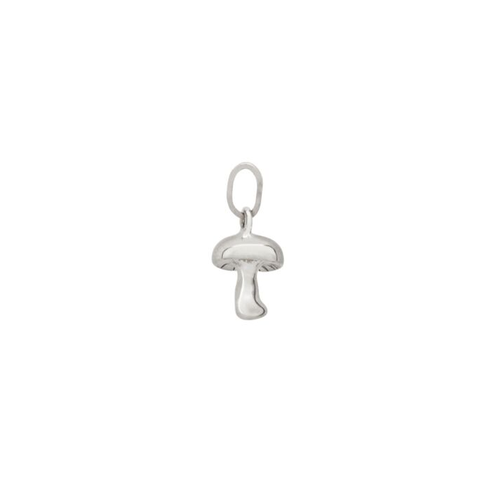 Littlest Mushroom Charm, Silver