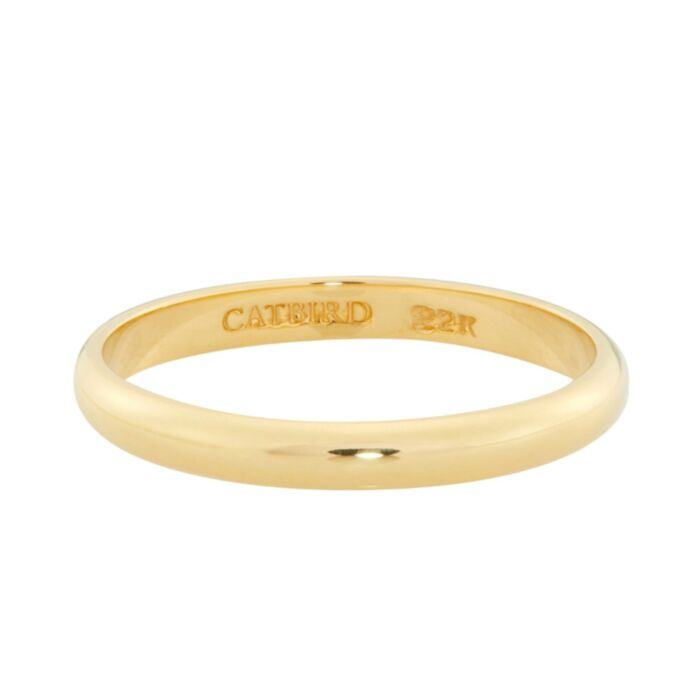 Old World Catbird Classic Wedding Band