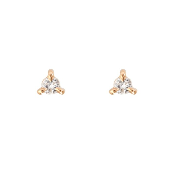 Angel Hair Diamond Stud (single