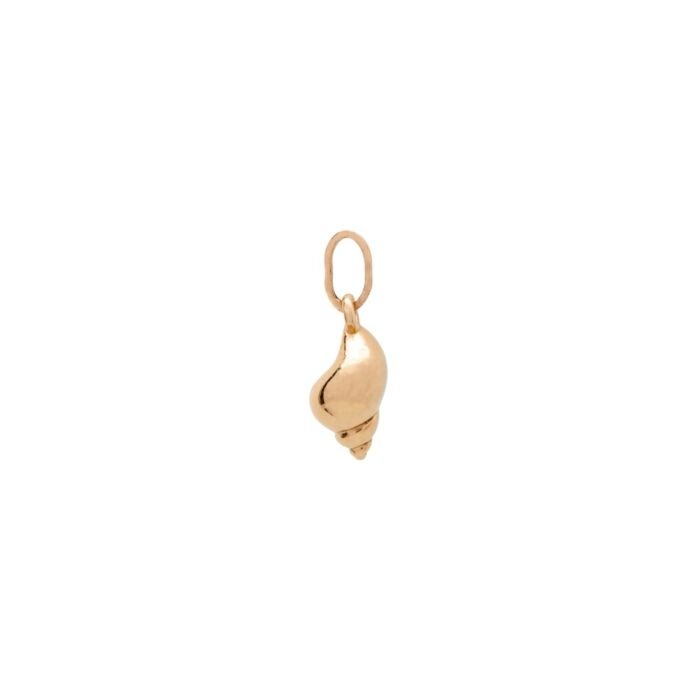 Tiny Shello Charm, Yellow Gold