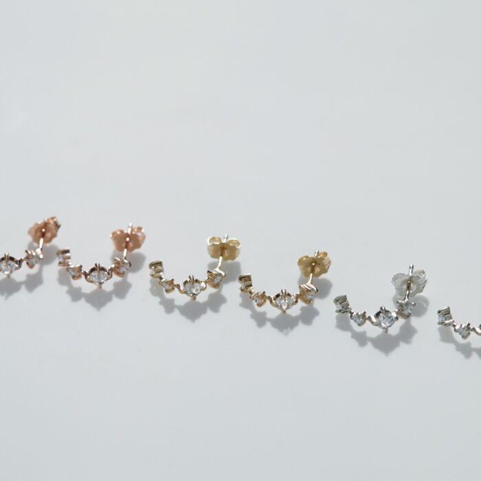 Snow Queen Hoop, rose gold (single) image