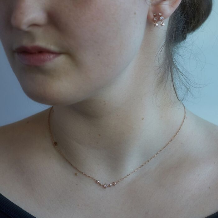 Snow Queen Necklace, rose gold image
