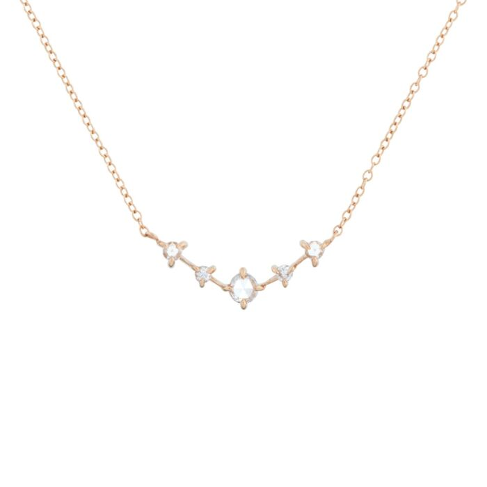Snow Queen Necklace, rose gold