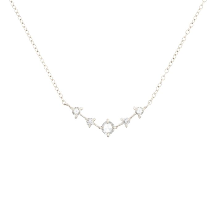 Snow Queen Necklace, white gold