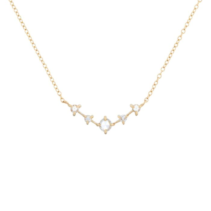 Snow Queen Necklace, yellow gold