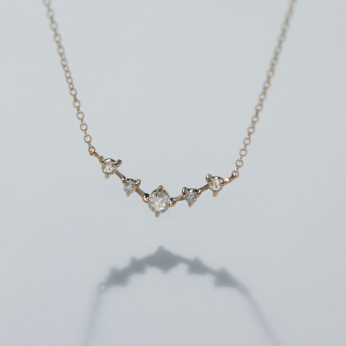 Snow Queen Necklace, yellow gold image