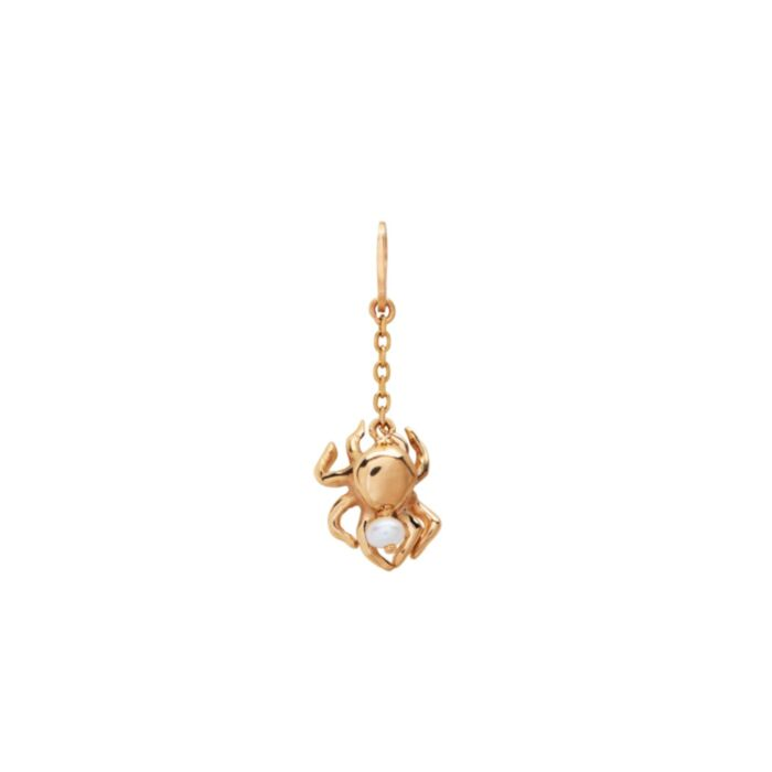 The Gentle Spider Charm, Yellow Gold