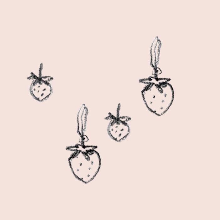 Wild Strawberry Charm, Silver image