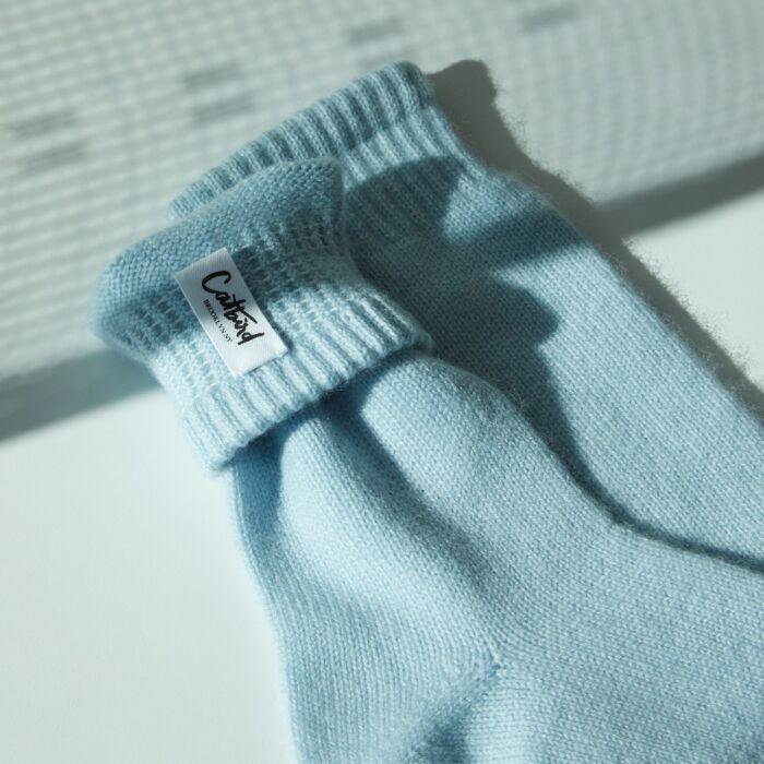 Cozy Cashmere Socks, Baby Blue image