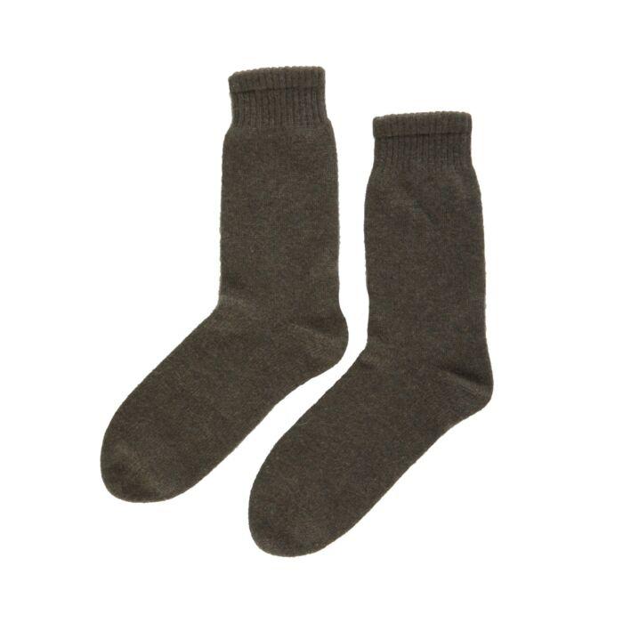 Cozy Cashmere Socks, Moss