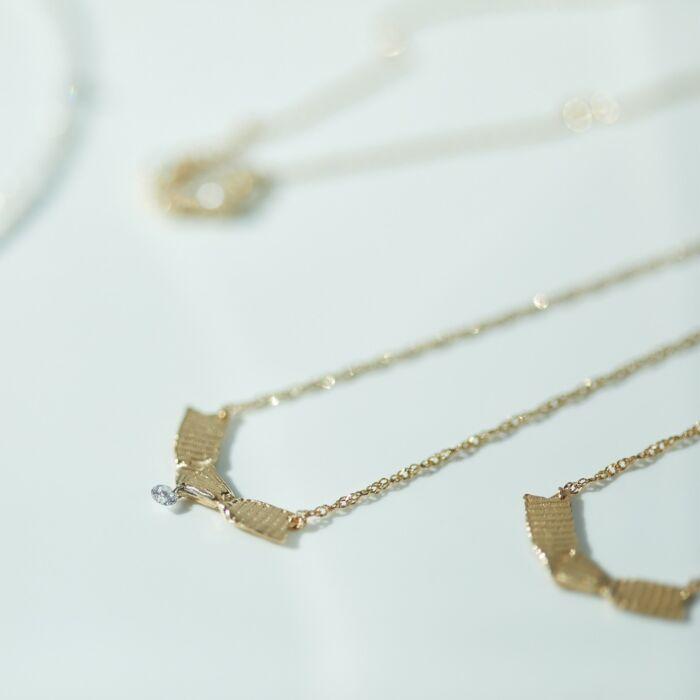 Ribbon Necklace, Diamond image