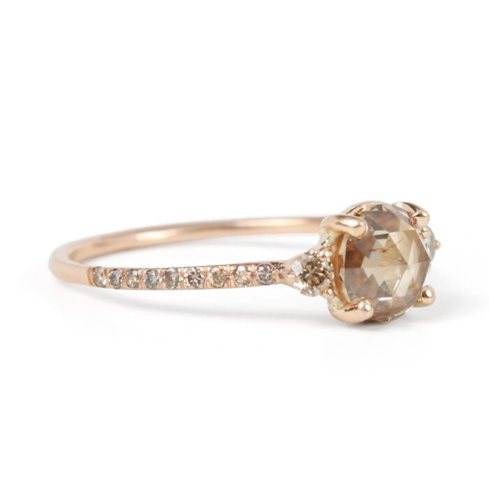 Champagne Diamond Solitaire Ring image