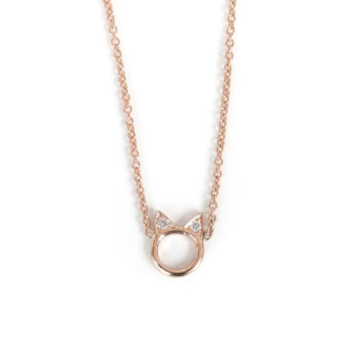 Choupette Necklace, Rose Gold