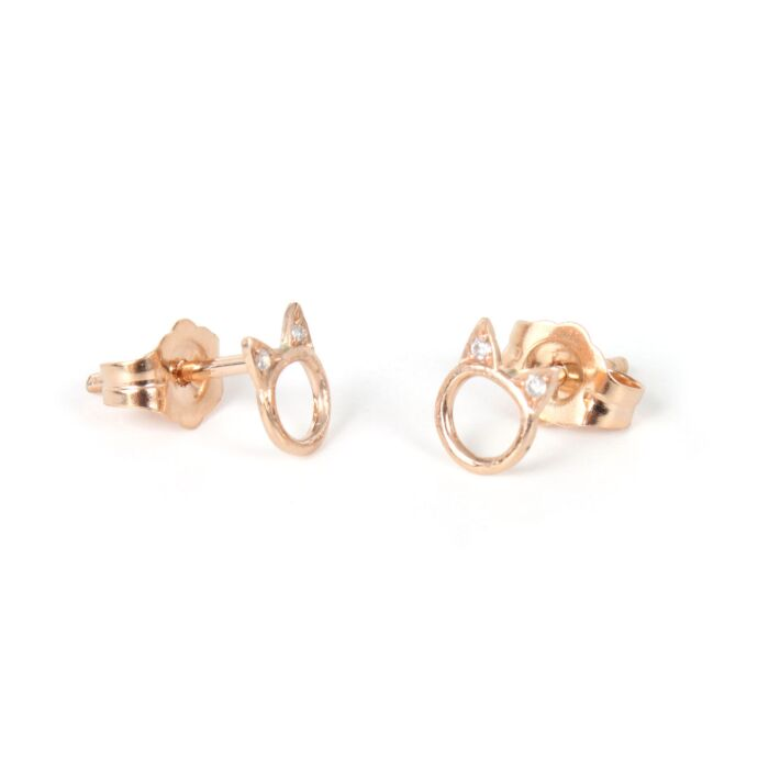 Choupette Earring, Rose Gold (single)