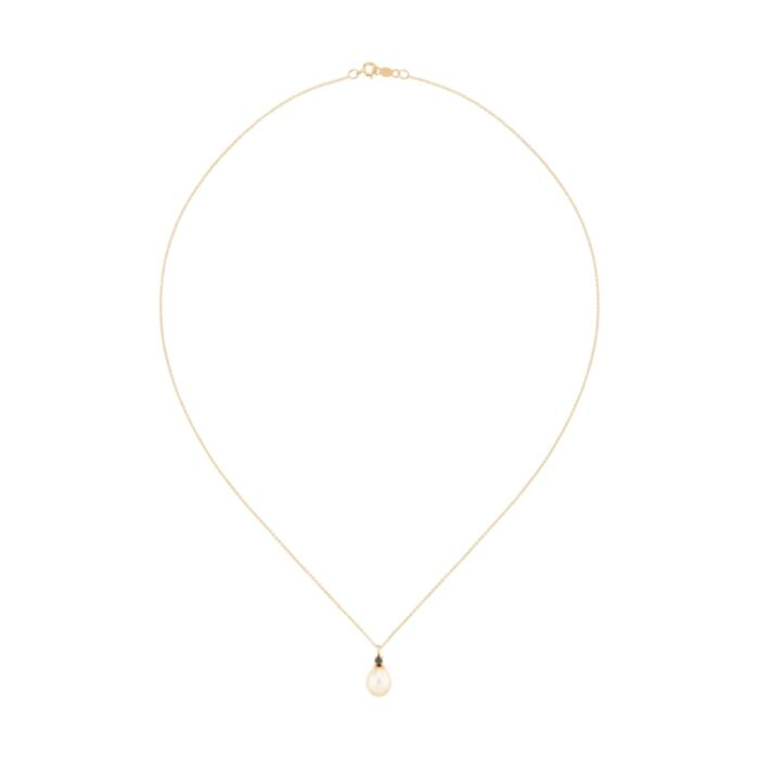 Pearl and Black Diamond Necklace image