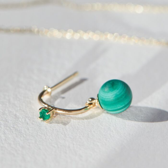 Emerald and Malachite Hoop (single) image