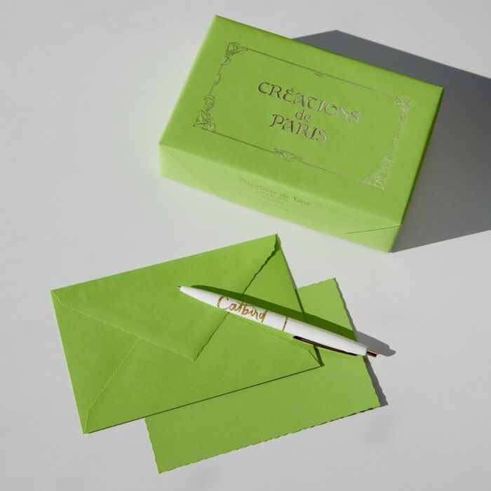 Créations de Paris Stationery Set, Slime Green