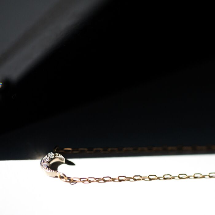 Tiny Crescent Moon Necklace image