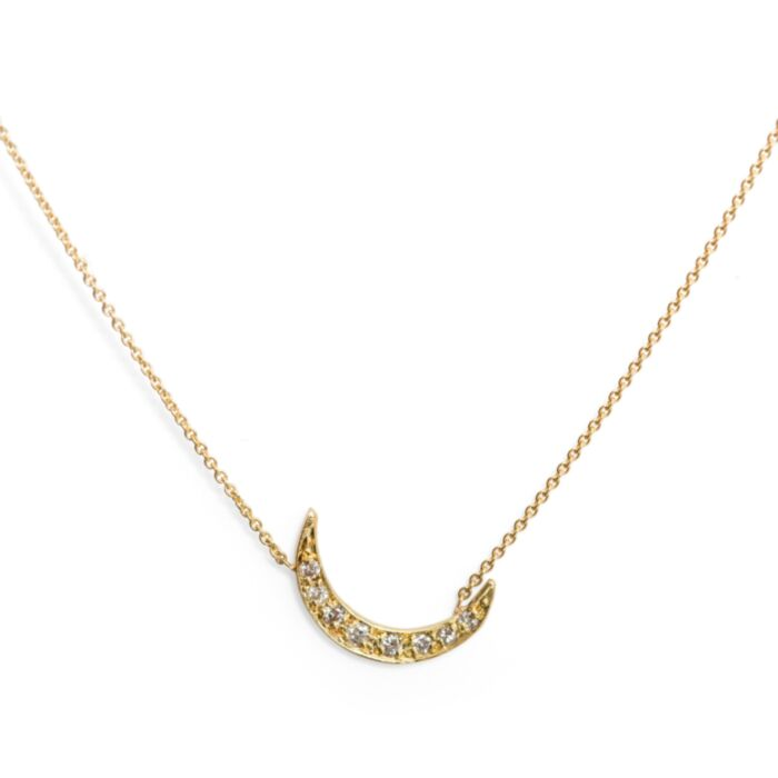 Diamond Moon Necklace image