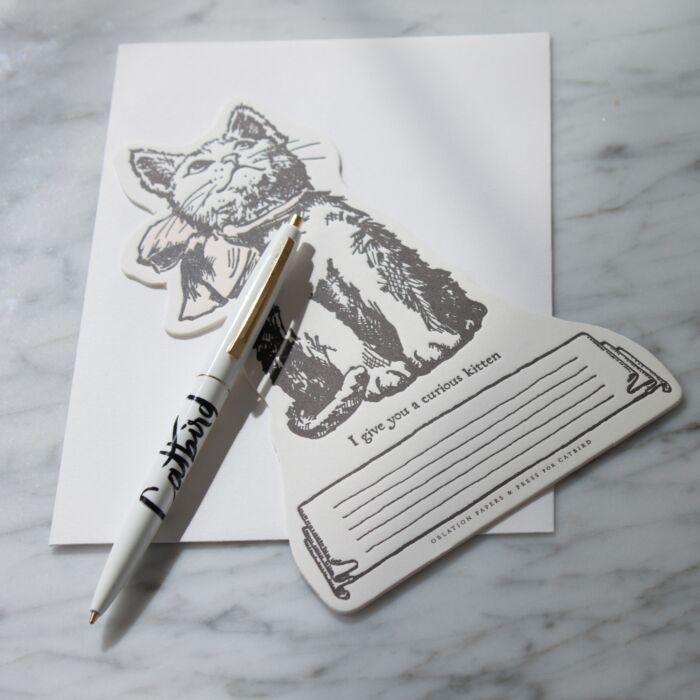 Catbird Curious Kitten Card image