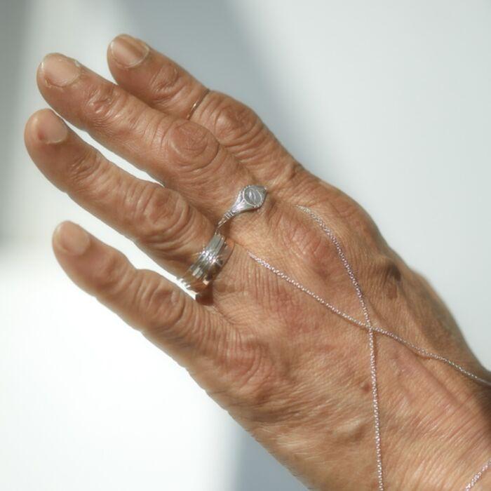 Grand Cygnet Ring, Silver
